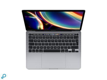 13-inch MacBook Pro met Touch Bar: 2,0-GHz quad-core Intel Core i5-processor van de 10e generatie, 1 TB - spacegrijs