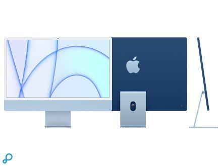 24-inch iMac met Retina 4,5K-display: Apple M1-chip met 8-core CPU en 7-core GPU, 256 GB - blauw