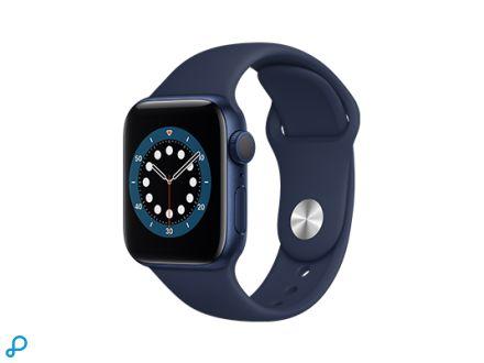 Apple Watch Series 6 - 40mm Blauw Aluminium kast met deep navy Sportband - Regular