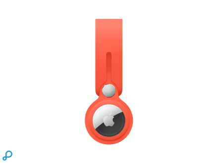 AirTag-hanger - Electric Orange