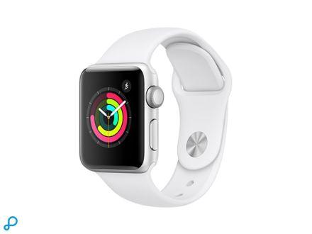 Apple Watch Series 3 GPS - 38 mm zilveren aluminium behuizing met witte sportband