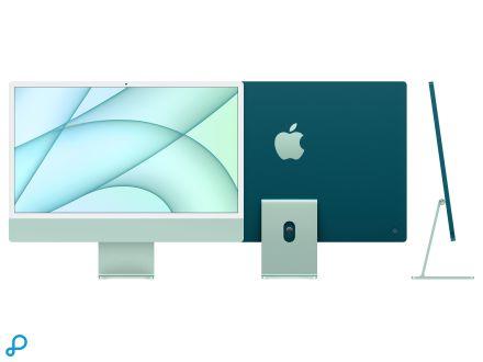 24-inch iMac met Retina 4,5K-display: Apple M1-chip met 8-core CPU en 8-core GPU, 512 GB - groen