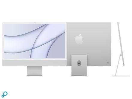 24-inch iMac met Retina 4,5K-display: Apple M1-chip met 8-core CPU en 7-core GPU, 256 GB - zilver