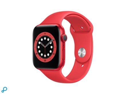 Apple Watch Series 6 - 44mm PRODUCT(RED) Aluminium kast met PRODUCT(RED) Sportband - Regular