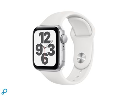 Apple Watch SE - 40mm Zilver aluminium kast met witte sportband - regular