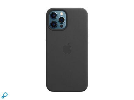 Leren hoesje met MagSafe voor iPhone 12 Pro Max - Zwart