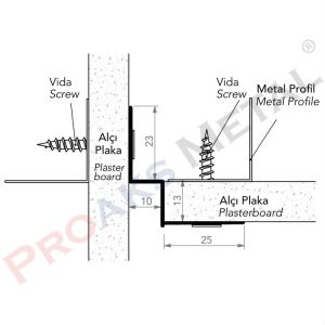 Gradulam Z Profile Aluminum Plasterboard Suspended Ceiling Drywall