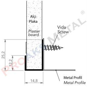 Köşe Bitiş Profili Alüminyum Alçıpan Köşe Malzemesi