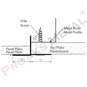 Plasterboard Transition Profile