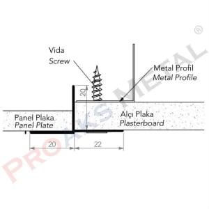 Plasterboard Transition Profile