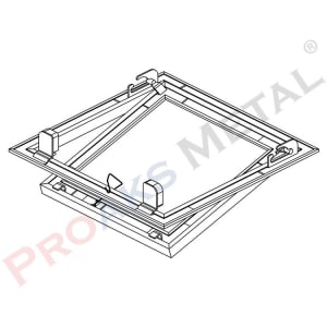 Prostar Aluminum Inner Cover Suspended Ceiling Access Panel