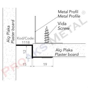 Z Profile Short Edge Aluminum Suspended Ceiling Gypsum Board