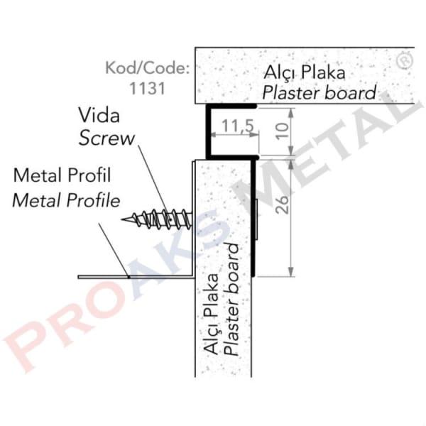 Single Leaf Joint Profile Aluminum Gypsum Board Ceiling