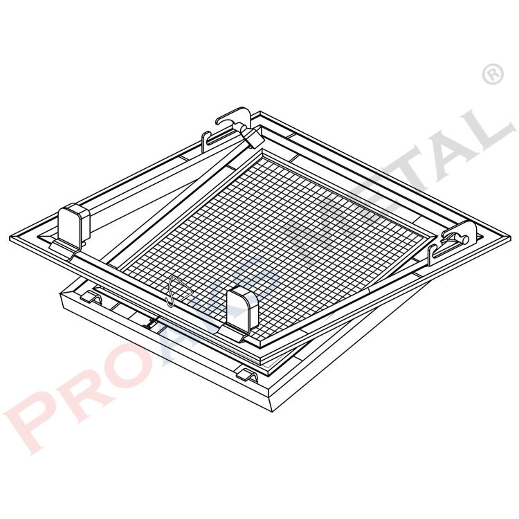 Prostar Square Honeycomb Access Panel