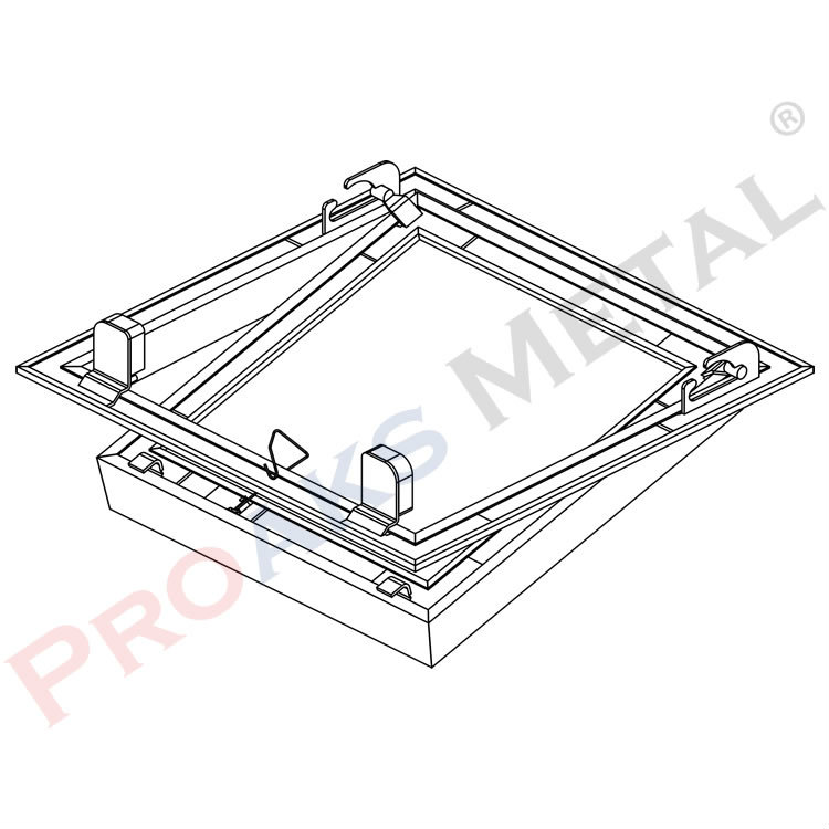 Protwinline Double Plaster Plated Intervention Cover