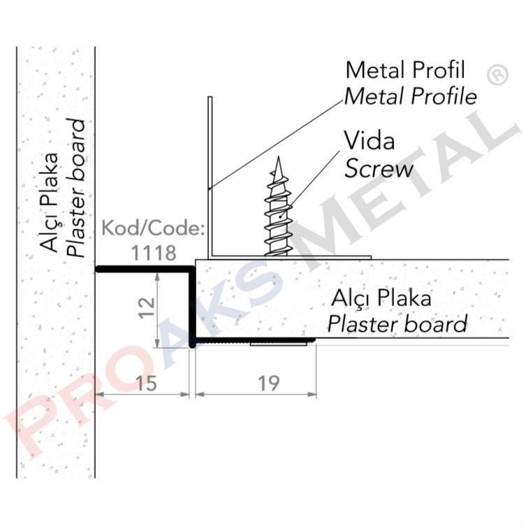 Plasterboard Ceiling Z Profile