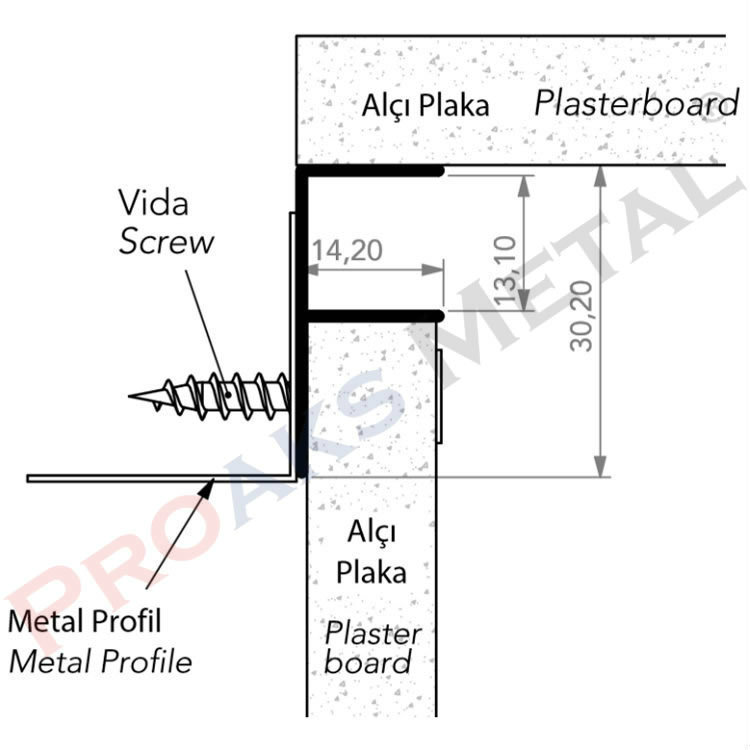 Drywall Profile Detail Fuga Suspended Ceiling Profiles