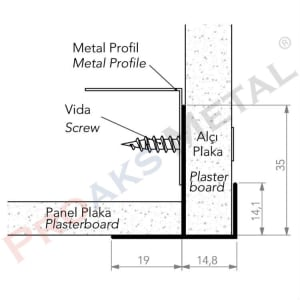 Plasterboard Transition Corner Screen Plasterboard Metal Profile