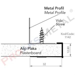 Detail U Profile Galvanized Aluminum Pvc Suspended Ceiling Plasterboard