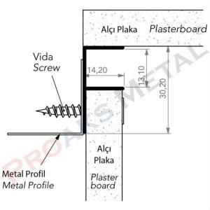 F Ceiling Profile Aluminum Drywall Plasterboard Gypsum Board
