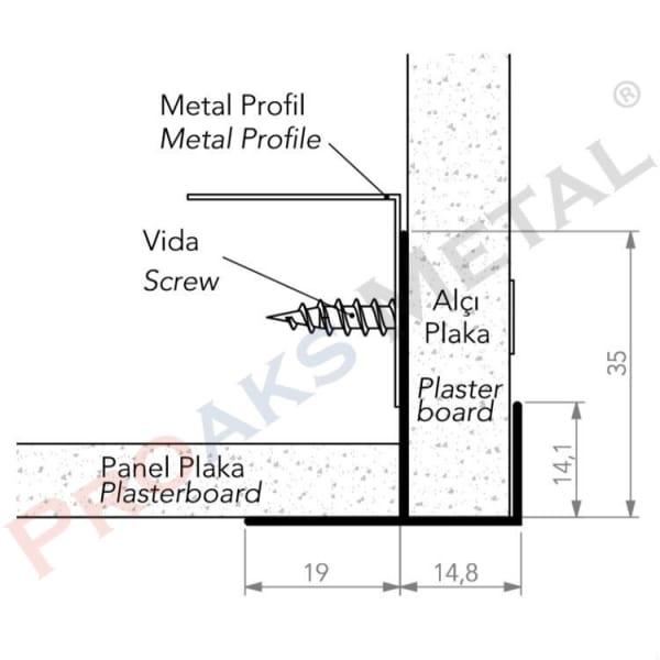 Plasterboard Transition Corner Screen Plasterboard Metal Profile
