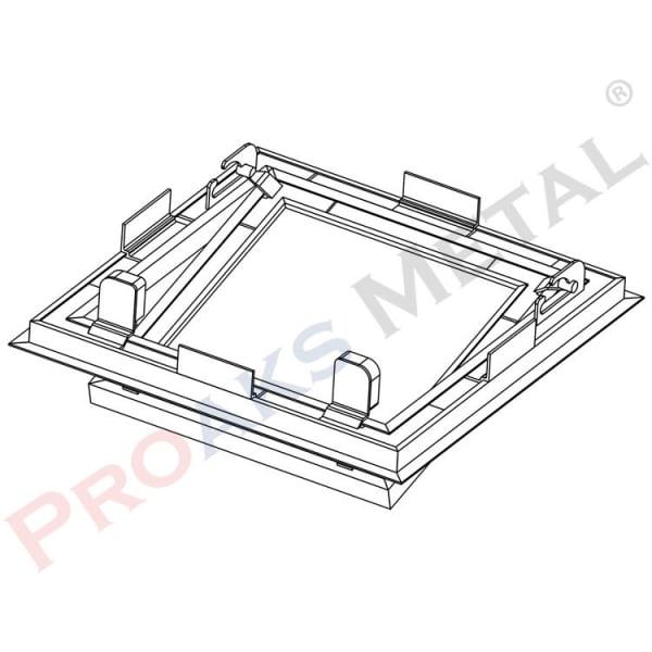 Zerostar Aluminum Switched Hinged Zero Construction Inner Cover