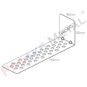 Aerated Concrete Connection Galvanized Perforated Wall Support