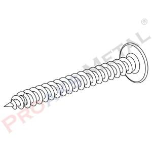 Shim Head Wall Plug Screw 5,0x45mm
