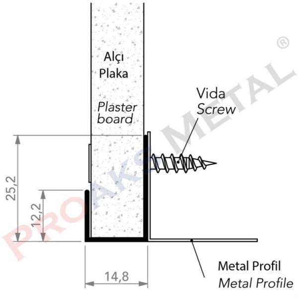 Corner End Profile Aluminum Plasterboard Suspended Ceiling