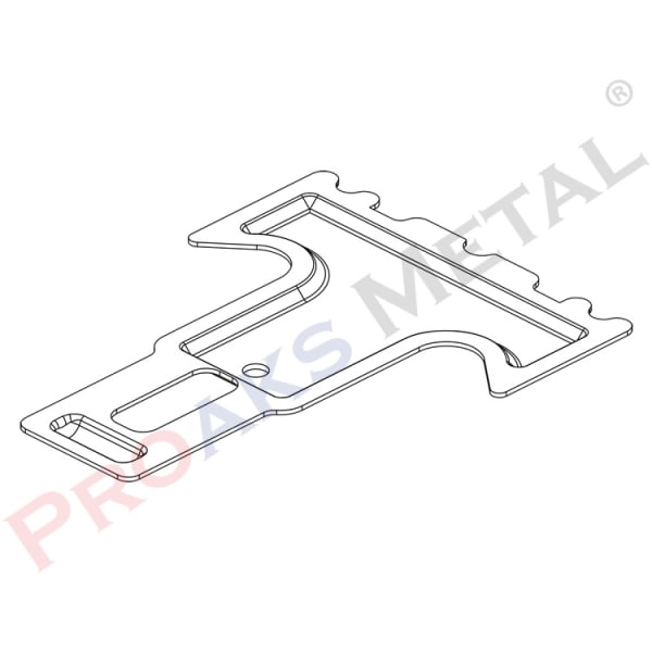 Angular Connecting T Clips Suspended Ceiling Main Profile Stabilizer