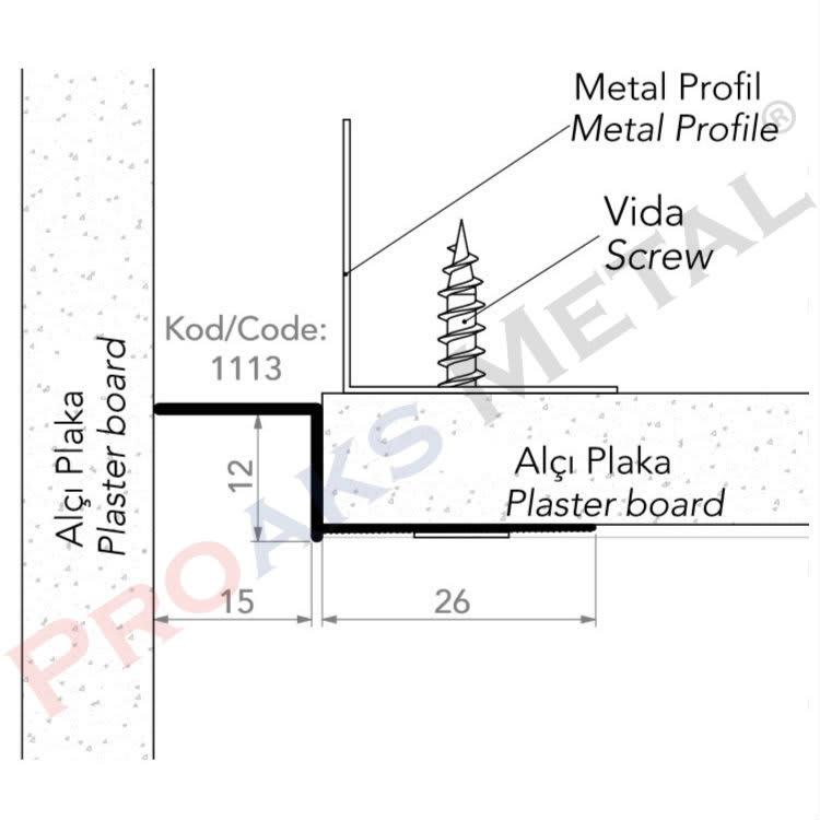 Drywall Finish Z Profile