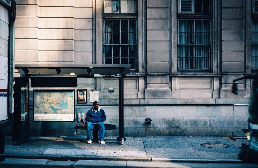 La parada de autobús