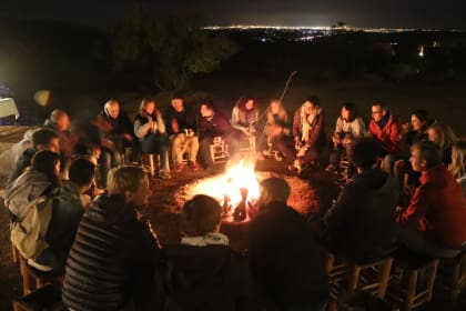 feu de camp amanar kyu marrakech