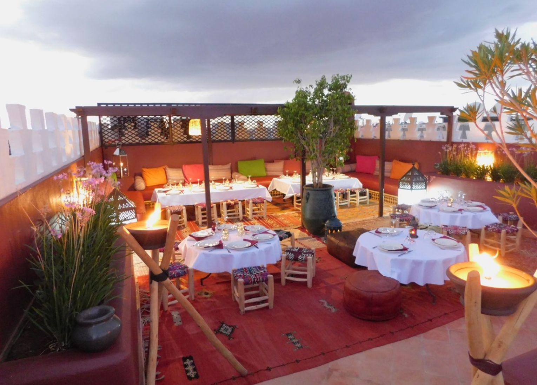 Dîner riad la perle rouge marrakech maroc terrasse