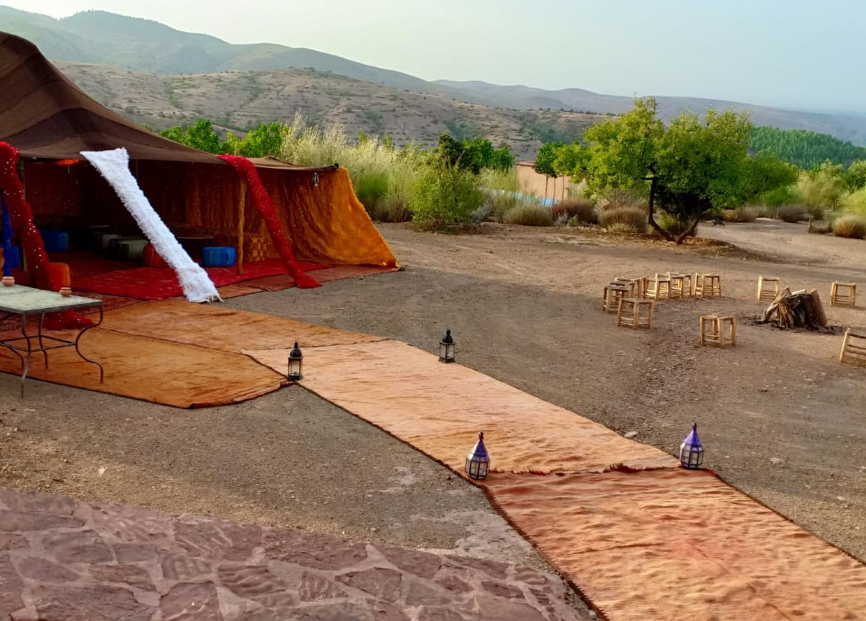 Soirée feu de camp, Terres d'Amanar kyu séminaire
