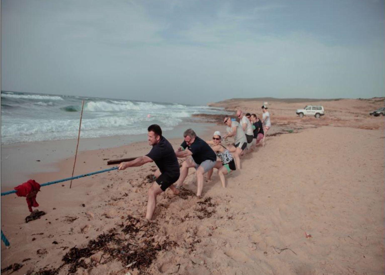 Olympiades plage Tunisie Tir à la corte