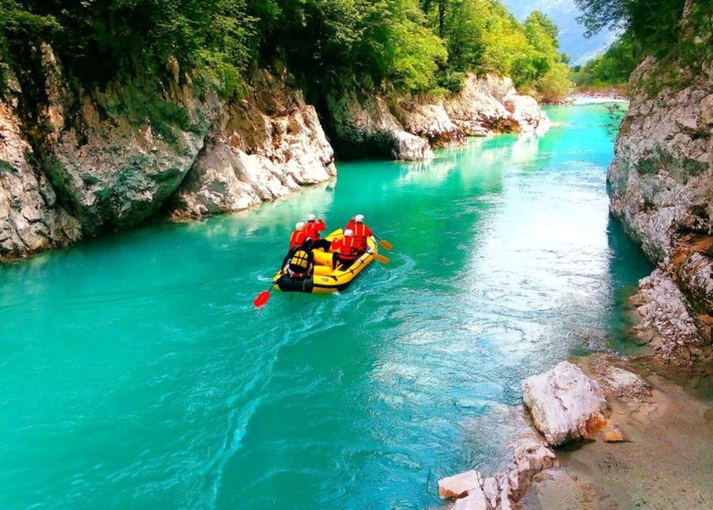 rafting soca slovénie