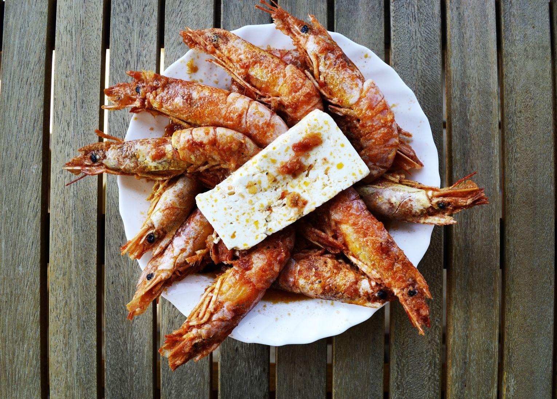 crevettes grèce cuisine grecque