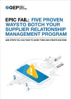 Epic Fail: 5 Proven Ways to Botch Your Supplier Relationship Management Program