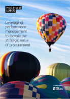 Leveraging Performance Management to Elevate the Strategic Value of Procurement