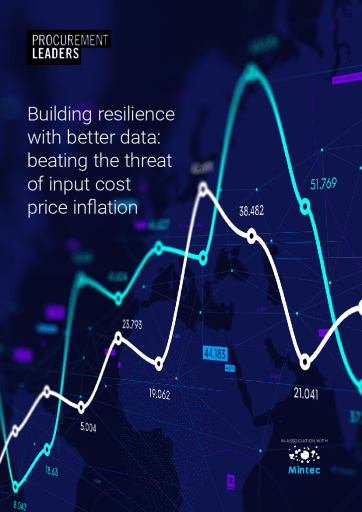 Building resilience with better data: beating the threat of input cost price inflation