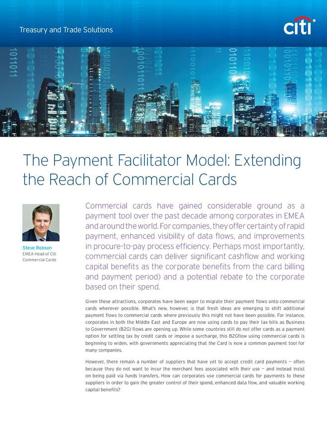 The Payment Facilitator Model: Extending the Reach of Commercial Cards