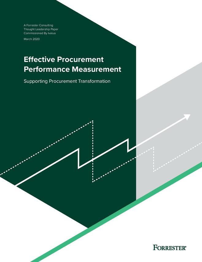 Effective Procurement Performance Measurement