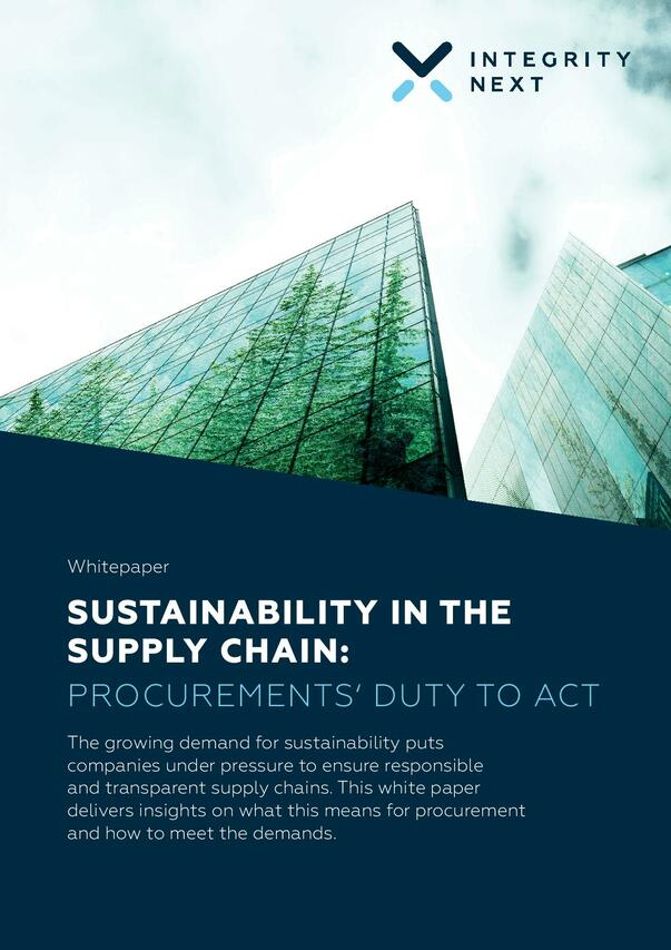 Sustainability in the Supply Chain: Procurement's Duty to Act