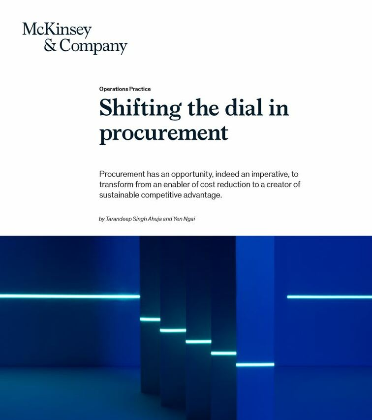 Shifting the dial in procurement