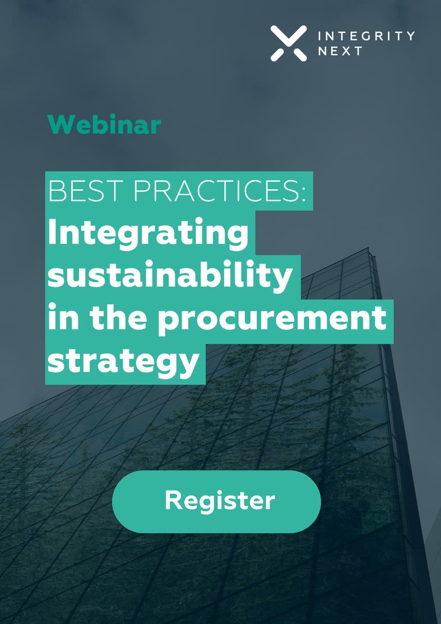 Best Practices: Integrating sustainability in the procurement strategy