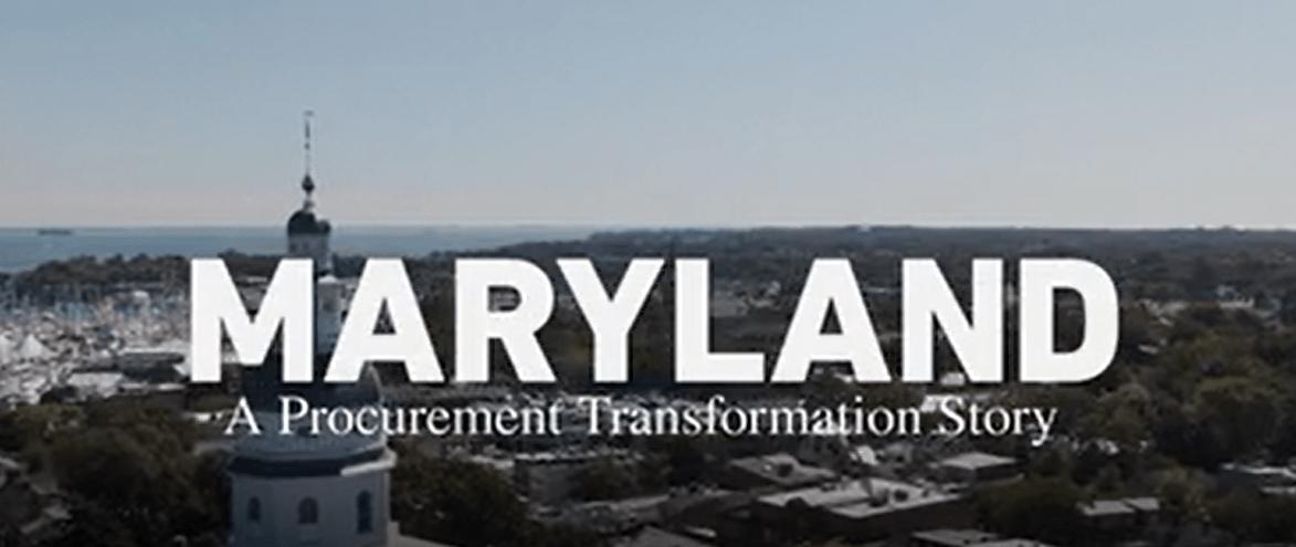 Maryland's Procurement Story