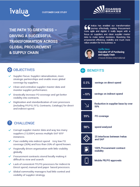 Chassis Brakes International: The Path to Greatness: Driving a Successful Transformation Across Global Procurement and Supply Chain