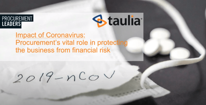 Procurement's role in protecting against financial risk in the supply chain