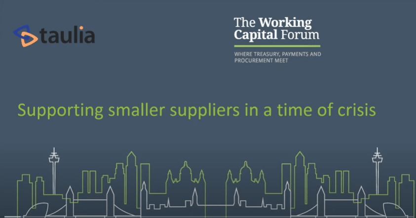 Supporting smaller suppliers in a time of crisis